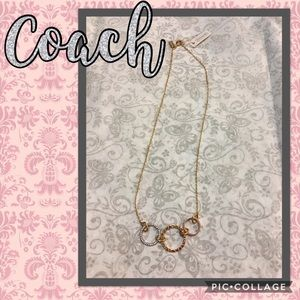 NWT Coach Three Ring Pendant Necklace